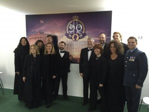 The backing vocal team for Her Majesty the Queen's 90th birthday concert at Windsor Castle